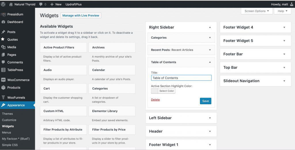 Wordpress Table of Contents 3