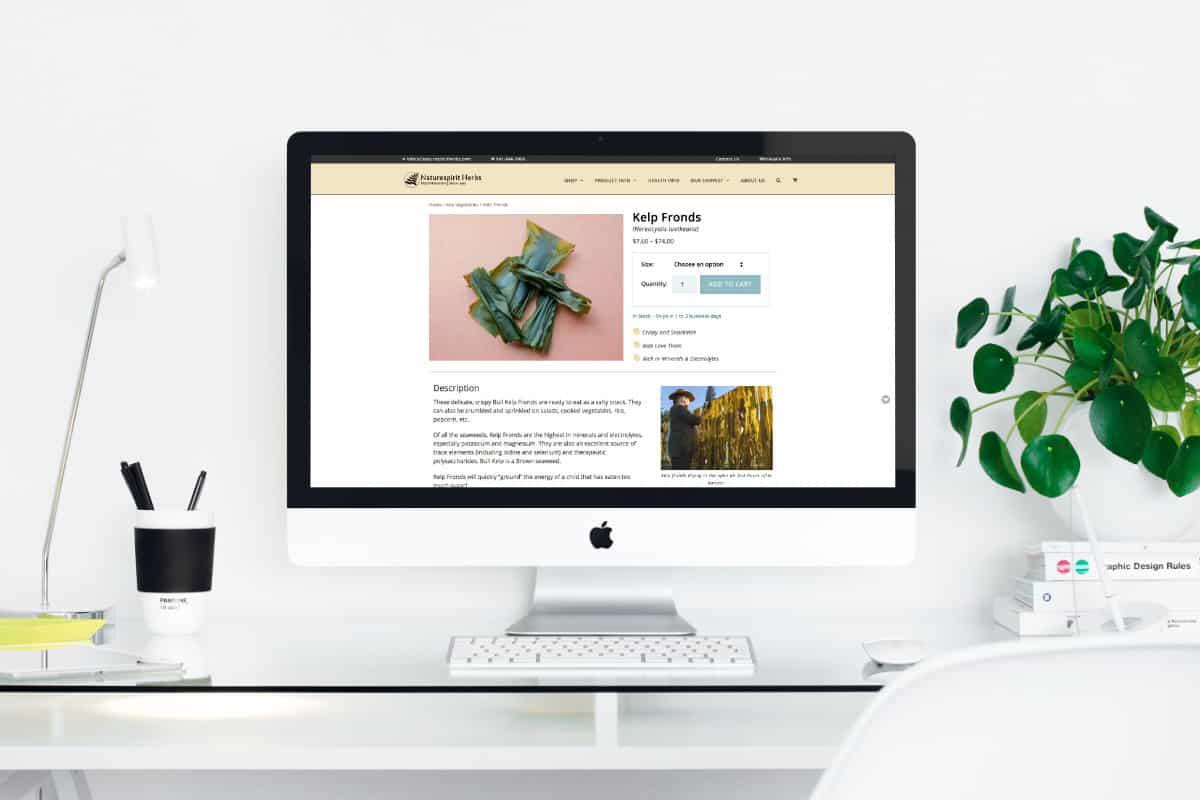 Naturespirit Herbs Mac Mockup - Stern Design Co